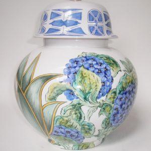 Lampe brûle-parfum Hortensias