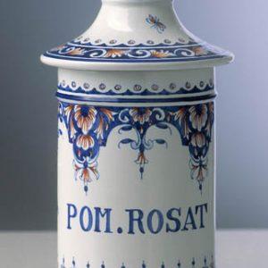 Pot canon Rouen ocre et bleu taille 5