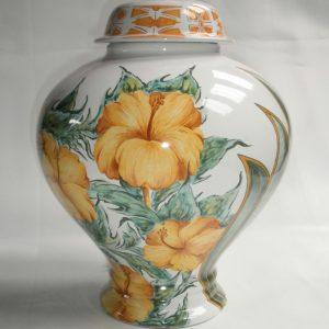 Lampe potiche Hibiscus 1
