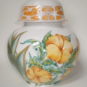 Lampe brûle-parfum Hibiscus