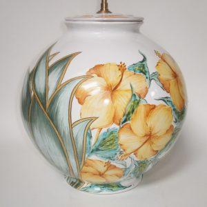 Pied de lampe boule Hibiscus