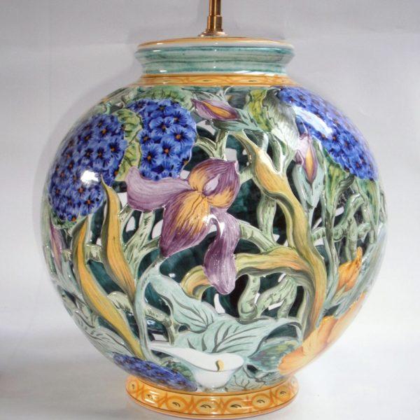 Pied de lampe boule Flore