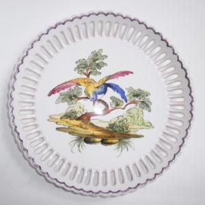 Assiette déco ajourée Oiseaux