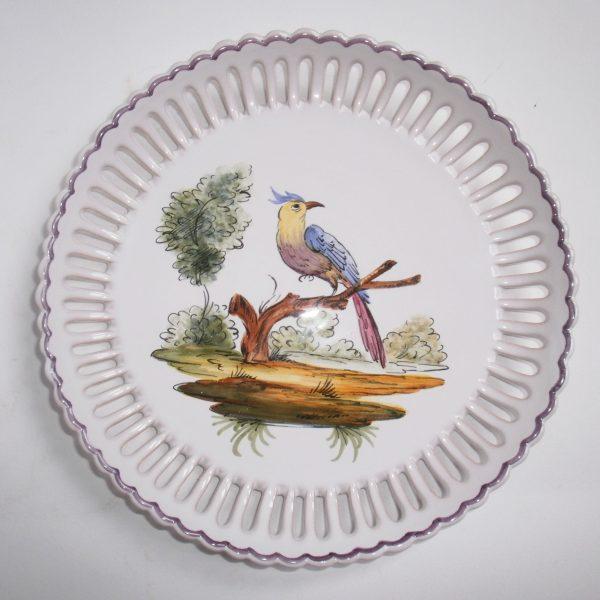Assiette ajourée oiseau 2