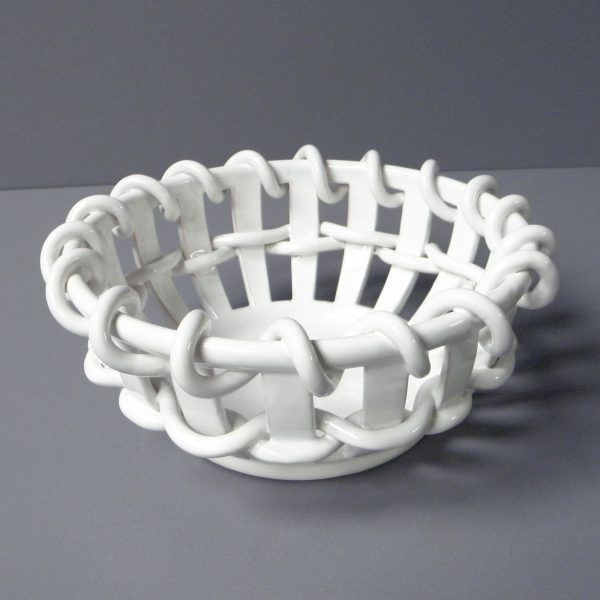 Corbeille cordelée blanche