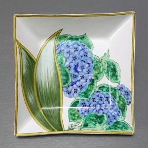 Vide-poche carré Hortensias G.M.