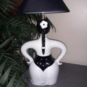 baigneuse lampe noire et strass