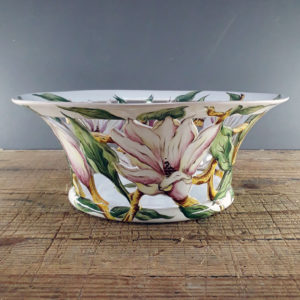 corbeille ajourée magnolias