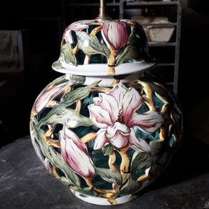 Pied de lampe brûle parfum magnolias