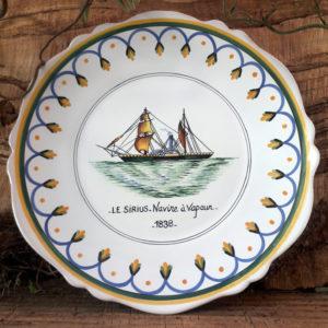 Assiette bateau Le Sirius