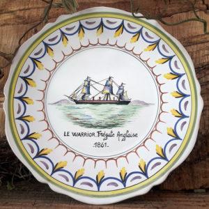 Assiette bateau Le Warrior