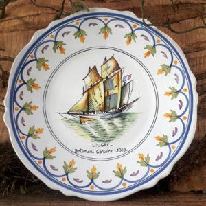 Assiette bateau Lougre