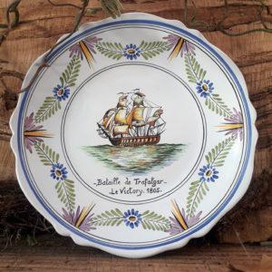 Assiette bateau Trafalgar