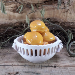 Corbeille boule demi Empire raisins blanche taille 1