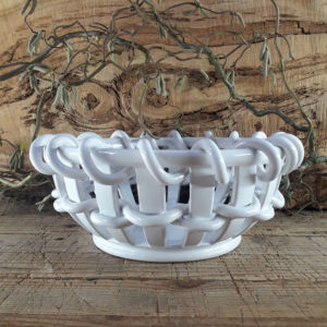 Corbeille cordelée blanche taille 4