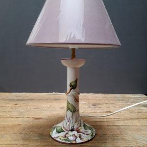 Pied de lampe bougeoir Magnolias