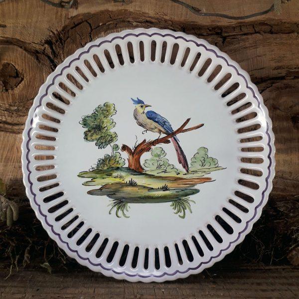 Assiette ajourée Oiseau N°2