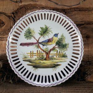 Assiette ajourée Oiseau N°4