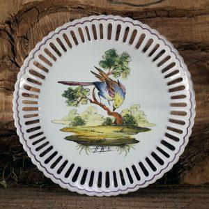 Assiette ajourée Oiseau N°6