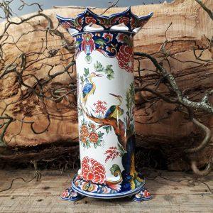 Vase sur pieds griffes Delft polychrome