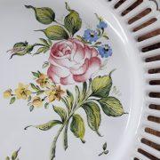 Assiette ajourée Les Roses N°2