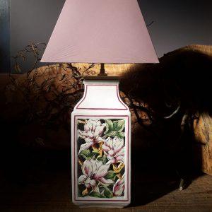 Pied de lampe carré Magnolias